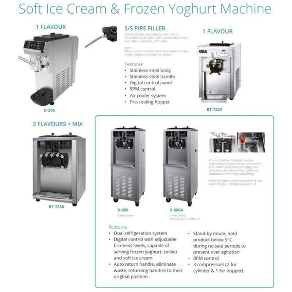 Soft Ice Cream & Frozen Yoghurt Machine